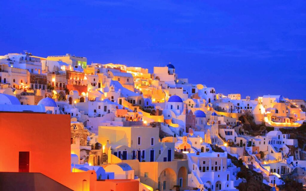 The Most Colorful Cities in Europe santorini greece